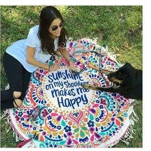Other - Round Mandala Tapestry Soft Breathable Beach Mat